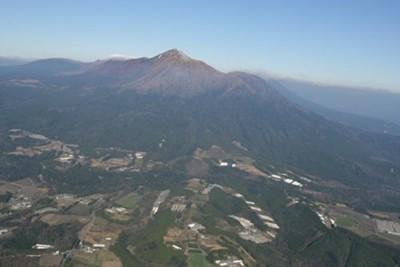 霧島連山とキリシマドリームファーム